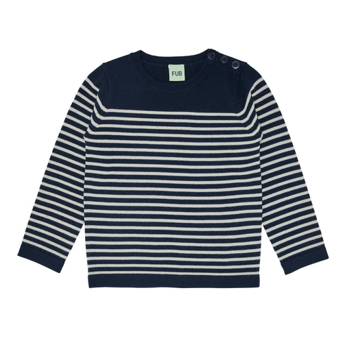 FUB Thin Sweater // Navy/Ecru by FUB - Mini Pop Style