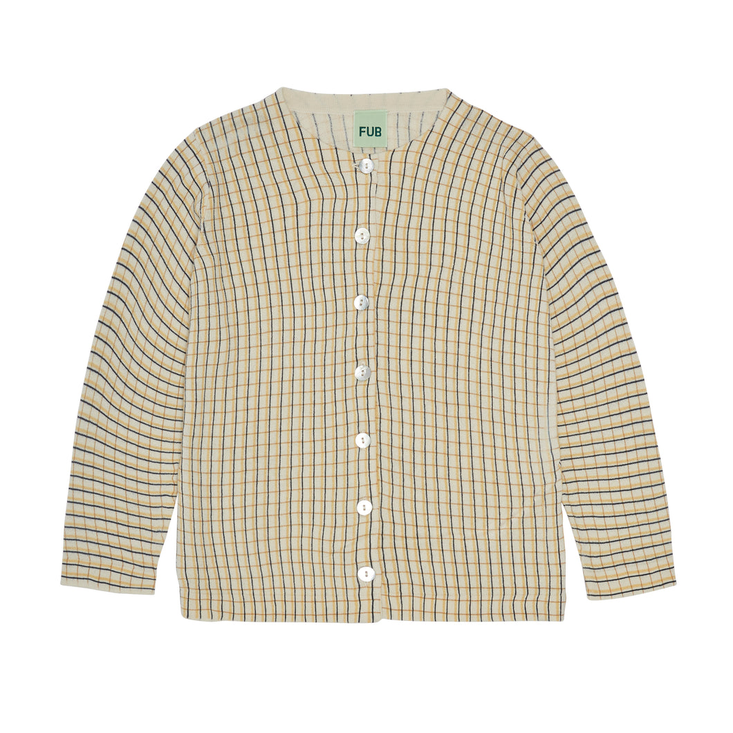 FUB Checked Shirt // Ecru/Desert Sun