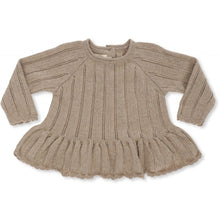 Load image into Gallery viewer, Konges Sløjd Fortune Frill Knit Pointelle // Brown Melange by Konges Sløjd - Mini Pop Style