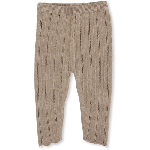 Konges Sløjd Bremer Pants Pointelle // Brown Melange - Mini Pop Style