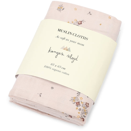Konges Sløjd 3 Pack Muslin Cloth // Nostalgie Blush by Konges Sløjd - Mini Pop Style