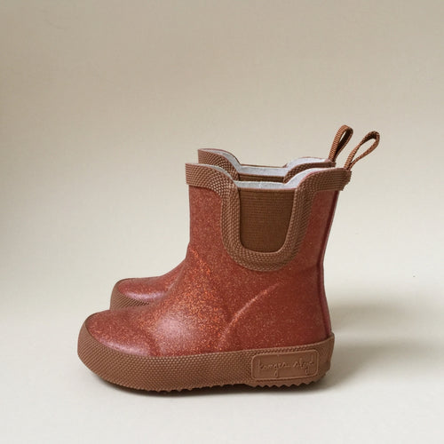 Konges Sløjd Welly Rubber Boots Glitter // Rose Blush by Konges Sløjd - Mini Pop Style