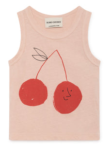 BOBO CHOSES Tank Top Cherry Linen by BOBO CHOSES - Mini Pop Style