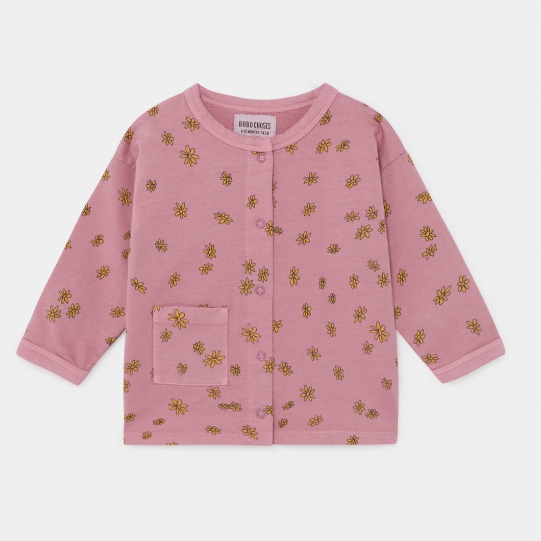 BOBO CHOSES All Over Daisy Buttoned Sweatshirt