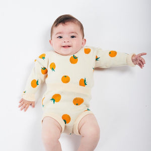 BOBO CHOSES Oranges Knitted Culotte by BOBO CHOSES - Mini Pop Style