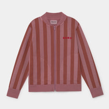 Load image into Gallery viewer, BOBO CHOSES Bobo Striped Zipped Sweatshirt