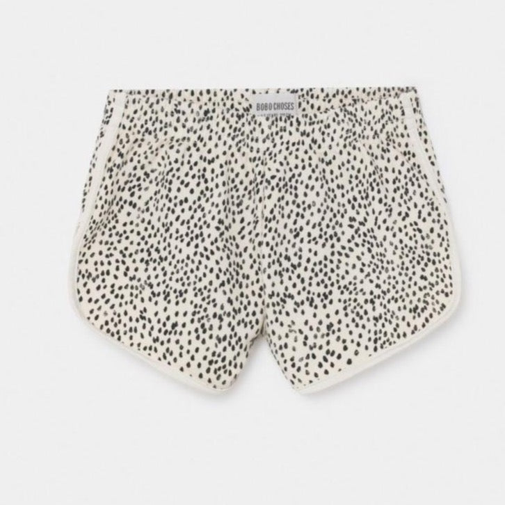 BOBO CHOSES All Over Leopard Runner Shorts by BOBO CHOSES - Mini Pop Style