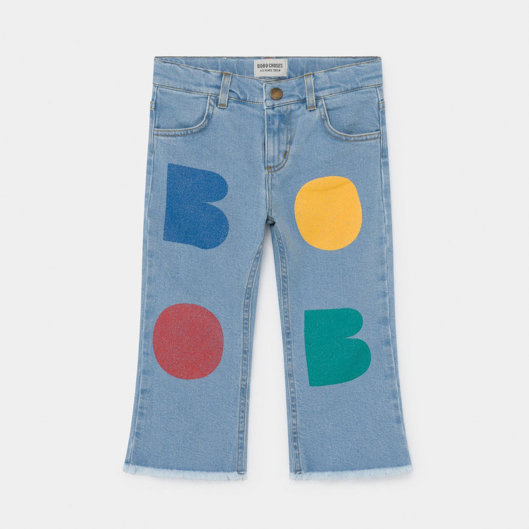 BOBO CHOSES Multicolor Bobo Flared Denim Pants - Mini Pop Style
