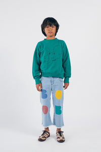 BOBO CHOSES Multicolor Bobo Flared Denim Pants by BOBO CHOSES - Mini Pop Style