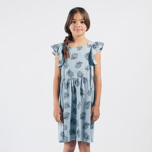 BOBO CHOSES All Over Pineapple Jersey Ruffle Dress by BOBO CHOSES - Mini Pop Style