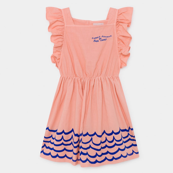 BOBO CHOSES Waves Woven Ruffle Dress by BOBO CHOSES - Mini Pop Style