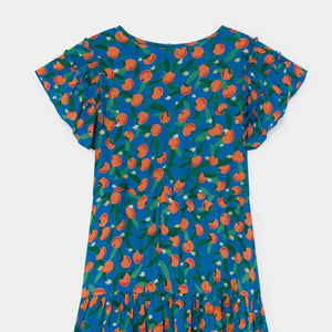 BOBO CHOSES All Over Oranges Flamenco Dress by BOBO CHOSES - Mini Pop Style
