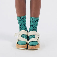 Load image into Gallery viewer, BOBO CHOSES All Over Leopard Short Socks // Green by BOBO CHOSES - Mini Pop Style