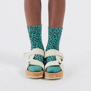 BOBO CHOSES All Over Leopard Short Socks // Green by BOBO CHOSES - Mini Pop Style