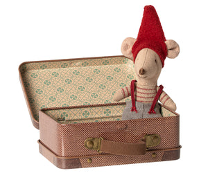 MAILEG Christmas Mouse in Suitcase // Little Brother by MAILEG - Mini Pop Style