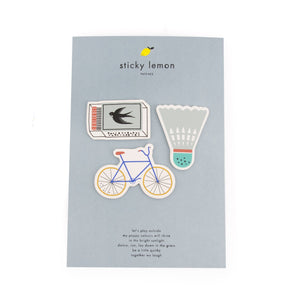 Sticky Lemon  Patches // Bike - Shuttle - Matches by Sticky Lemon - Mini Pop Style
