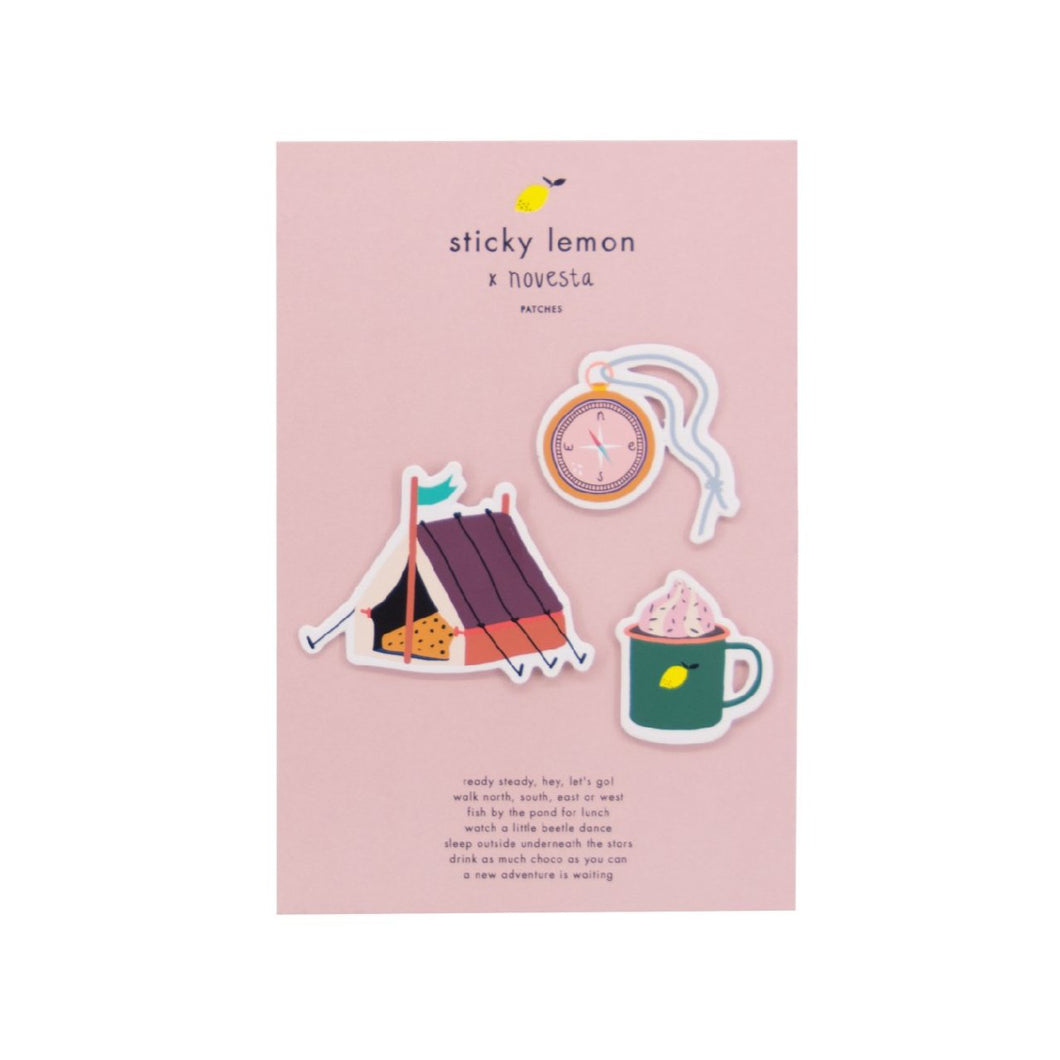 Sticky Lemon  Novesta Patches // Tent - Compass -Mug by Sticky Lemon - Mini Pop Style