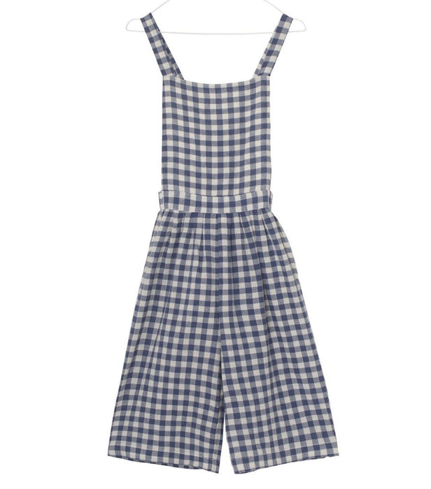 A MONDAY Bella Overall // Blue Indigo Check