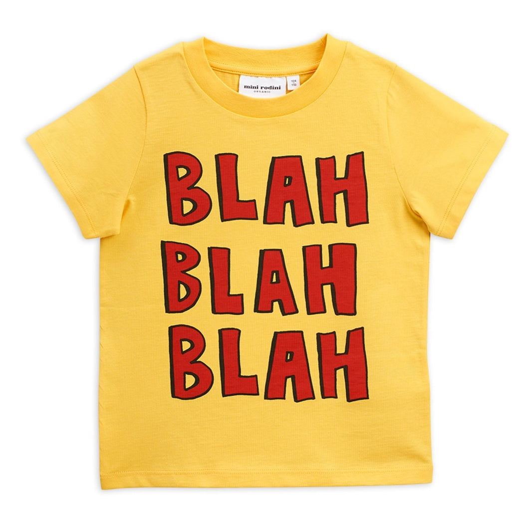 Mini Rodini Blah T-shirt // Yellow - Mini Pop Style