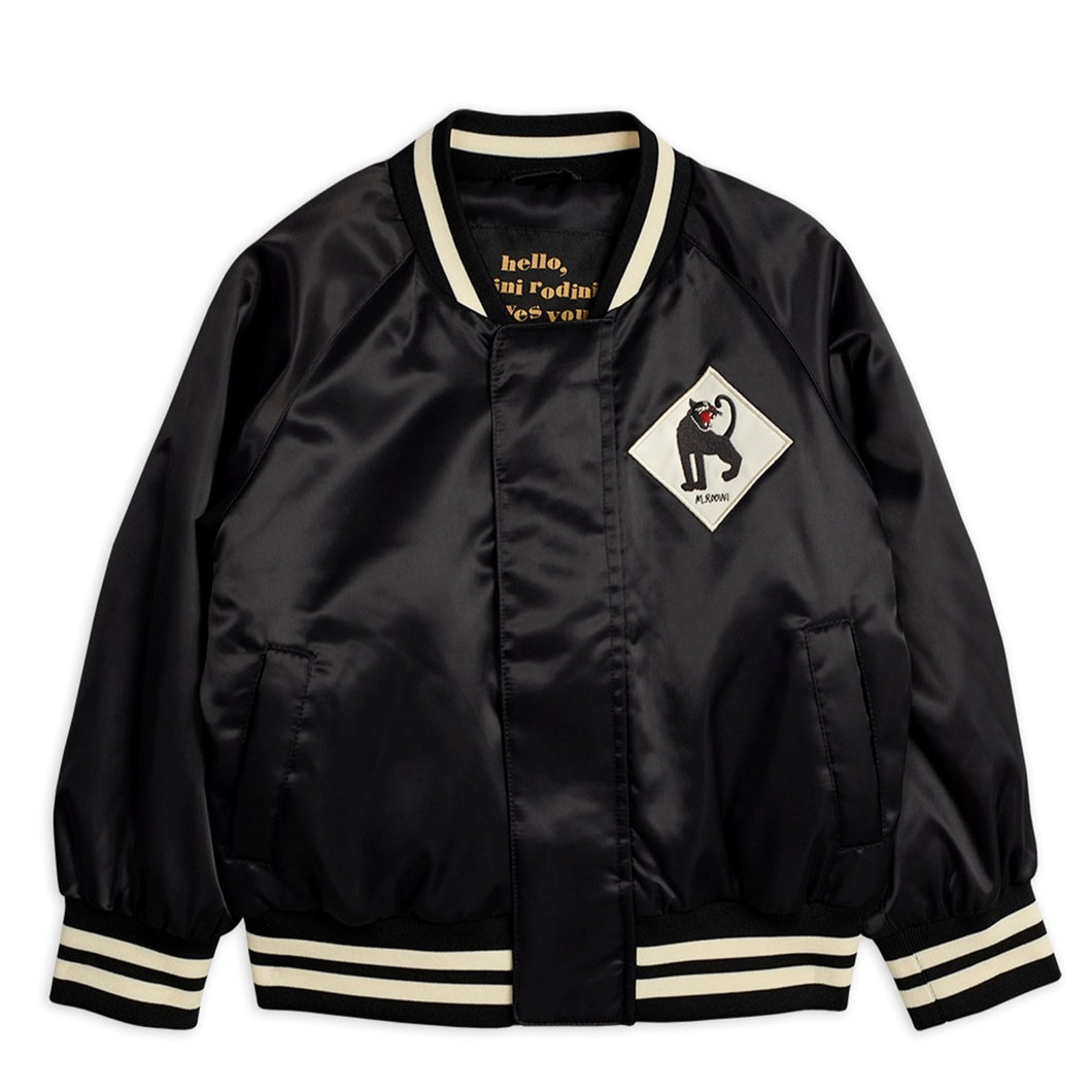 Mini Rodini Panther Baseball Jacket // Black by Mini Rodini - Mini Pop Style