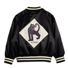 Load image into Gallery viewer, Mini Rodini Panther Baseball Jacket // Black by Mini Rodini - Mini Pop Style