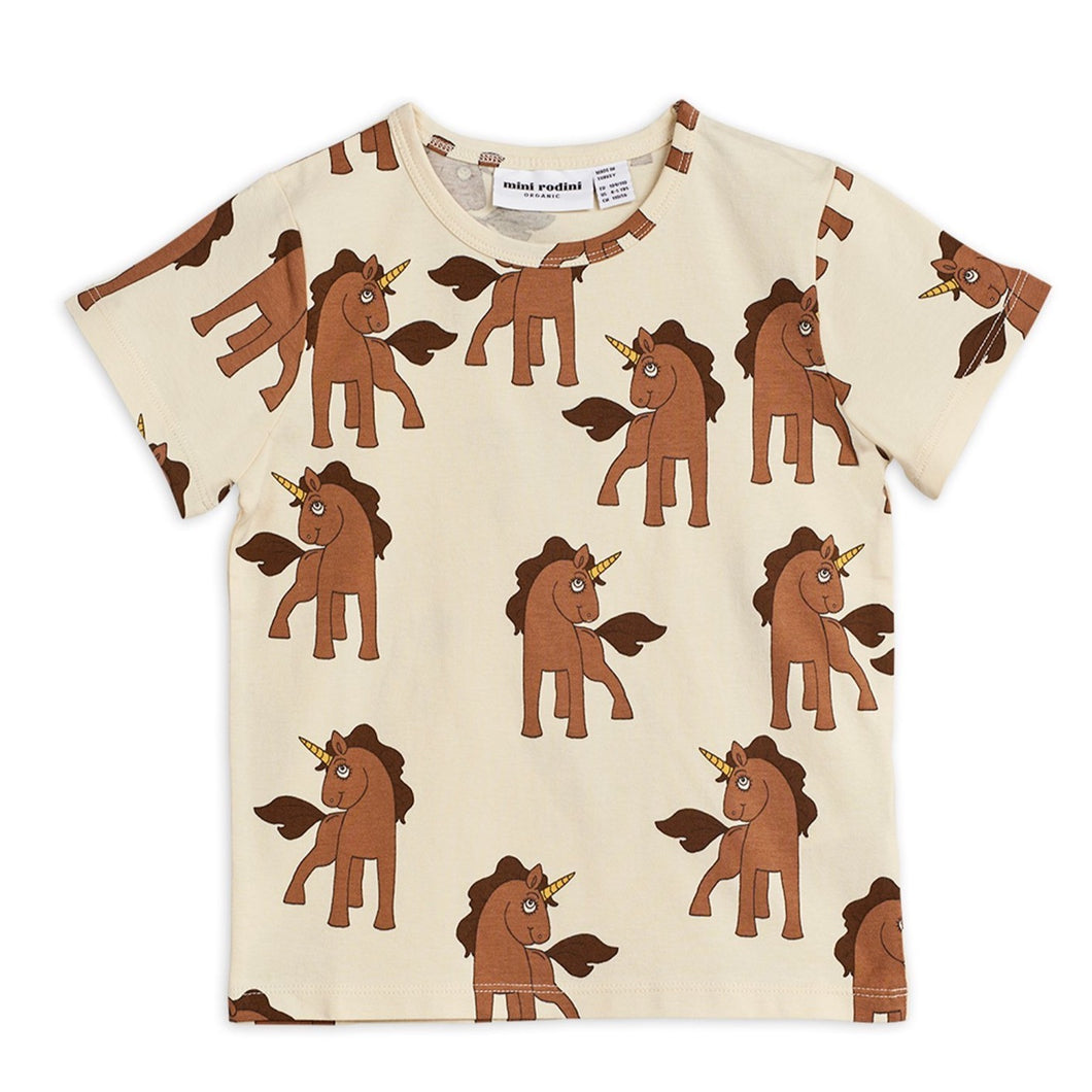 Mini Rodini Unicorn T-Shirt // Off-White by Mini Rodini - Mini Pop Style