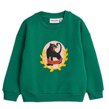 Load image into Gallery viewer, Mini Rodini Panther Badge Sweatshirt // Green