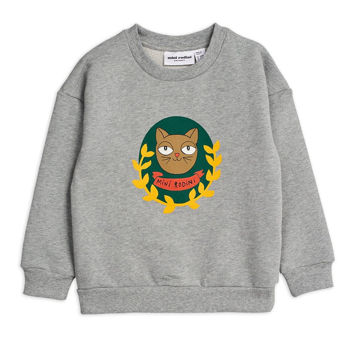 Mini Rodini Badge SP Sweatshirt // Grey Melange