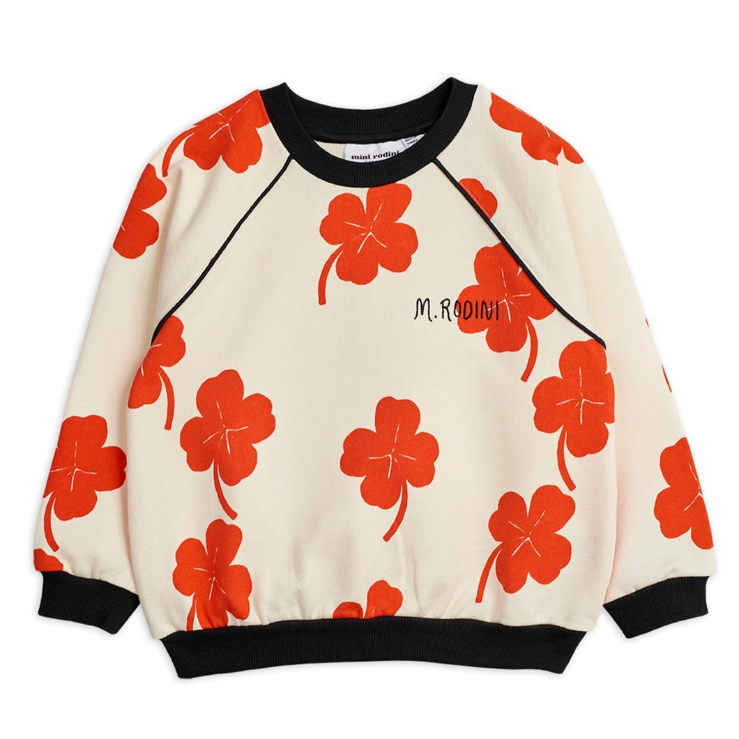 Mini Rodini Clover Sweatshirt // Off-White by Mini Rodini - Mini Pop Style