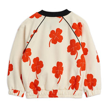 Load image into Gallery viewer, Mini Rodini Clover Zip Sweatshirt // Off-White