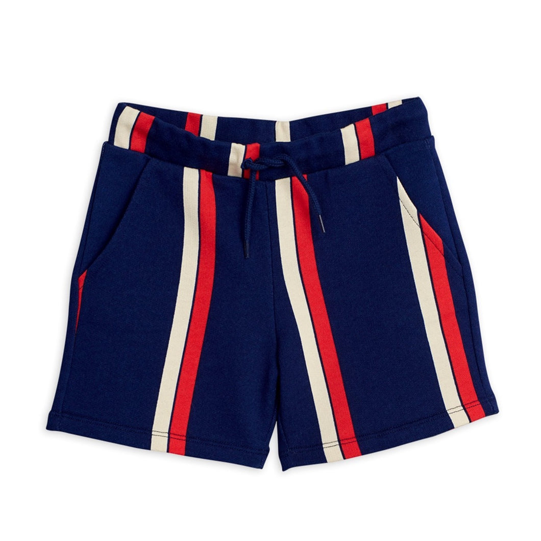 Mini Rodini Stripe Sweatshorts // Blue by Mini Rodini - Mini Pop Style