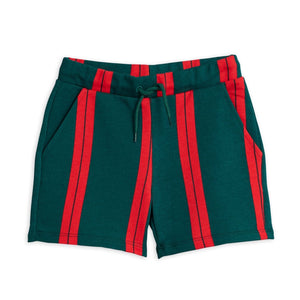 Mini Rodini Stripe Sweatshorts // Green by Mini Rodini - Mini Pop Style