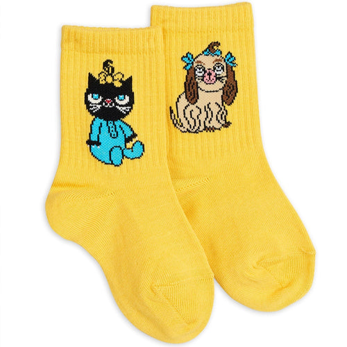 Mini Rodini Minibaby Socks // Yellow - Mini Pop Style