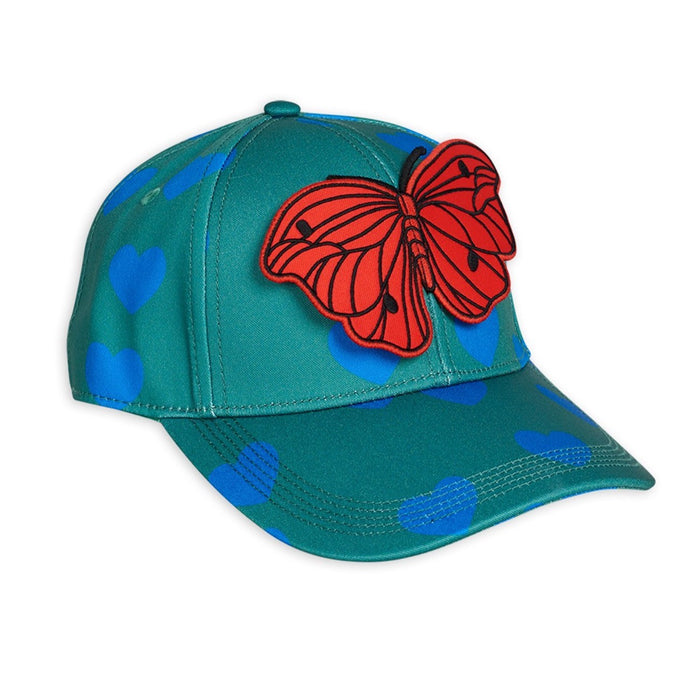 Mini Rodini Hearts Cap // Green by Mini Rodini - Mini Pop Style