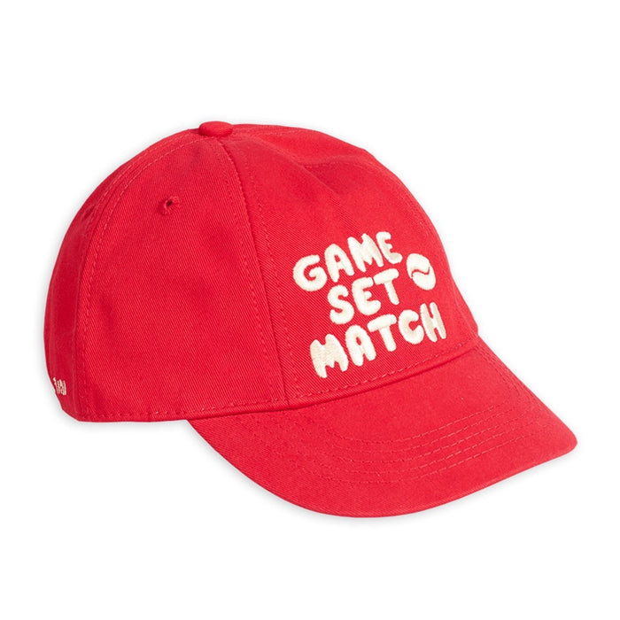 Mini Rodini Game Set Match Cap // Red - Mini Pop Style