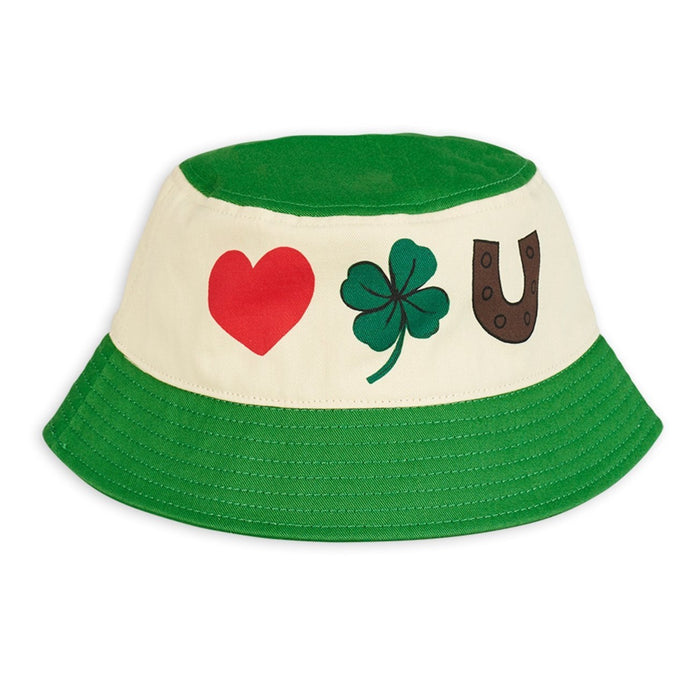 Mini Rodini Clover Bucket Hat // Green - Mini Pop Style