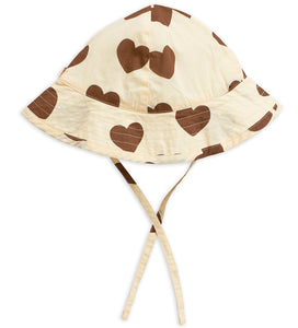 Mini Rodini Hearts Sun Hat // Off White by Mini Rodini - Mini Pop Style