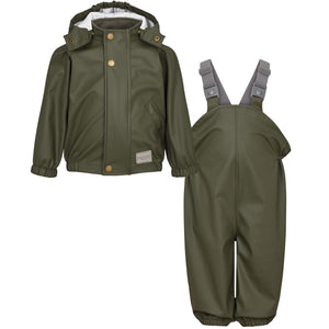 MarMar Rainwear Set Oddy // Dark Ivy