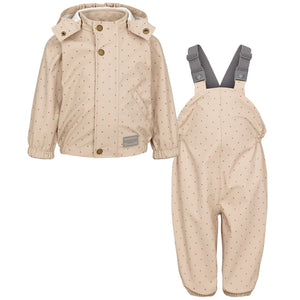 MarMar Rainwear Set Oddy // Rose Blush Dotty