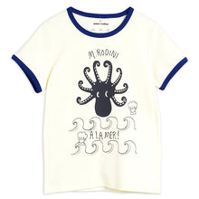 Load image into Gallery viewer, Mini Rodini Octopus Short Sleeve Tee // Blue by Mini Rodini - Mini Pop Style