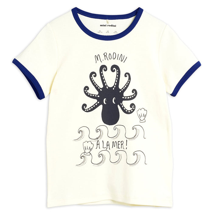 Mini Rodini Octopus Short Sleeve Tee // Blue by Mini Rodini - Mini Pop Style