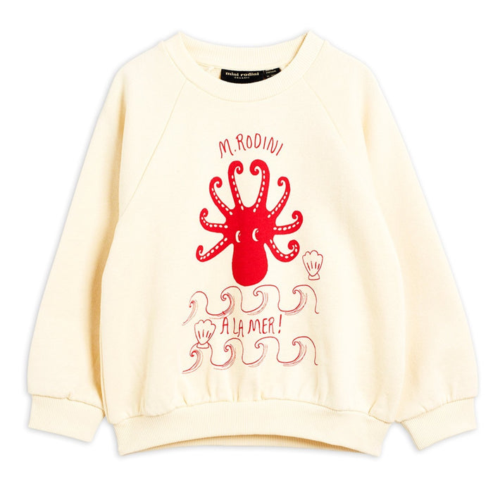 Mini Rodini Octopus SP Sweatshirt // Offwhite by Mini Rodini - Mini Pop Style