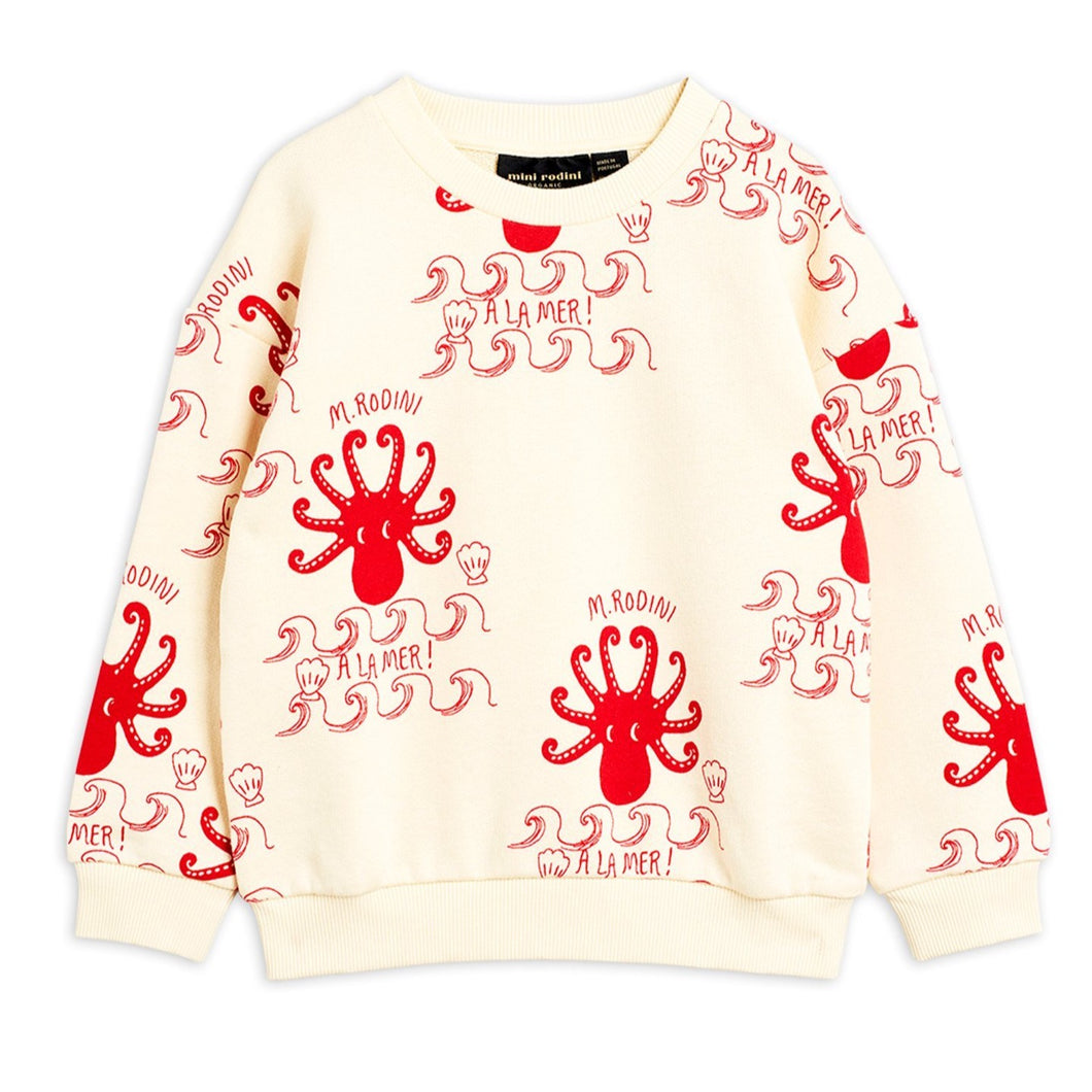 Mini Rodini Octopus Sweatshirt // Offwhite by Mini Rodini - Mini Pop Style