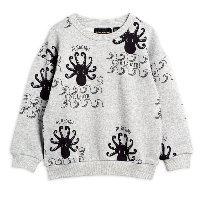 Mini Rodini Octopus Sweatshirt // Grey Melange by Mini Rodini - Mini Pop Style