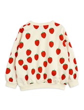 Load image into Gallery viewer, Mini Rodini Strawberry AOP Sweatshirt // Offwhite