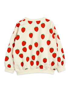 Mini Rodini Strawberry AOP Sweatshirt // Offwhite