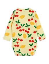 Load image into Gallery viewer, Mini Rodini Cherry Lemonade AOP LS Body // Yellow