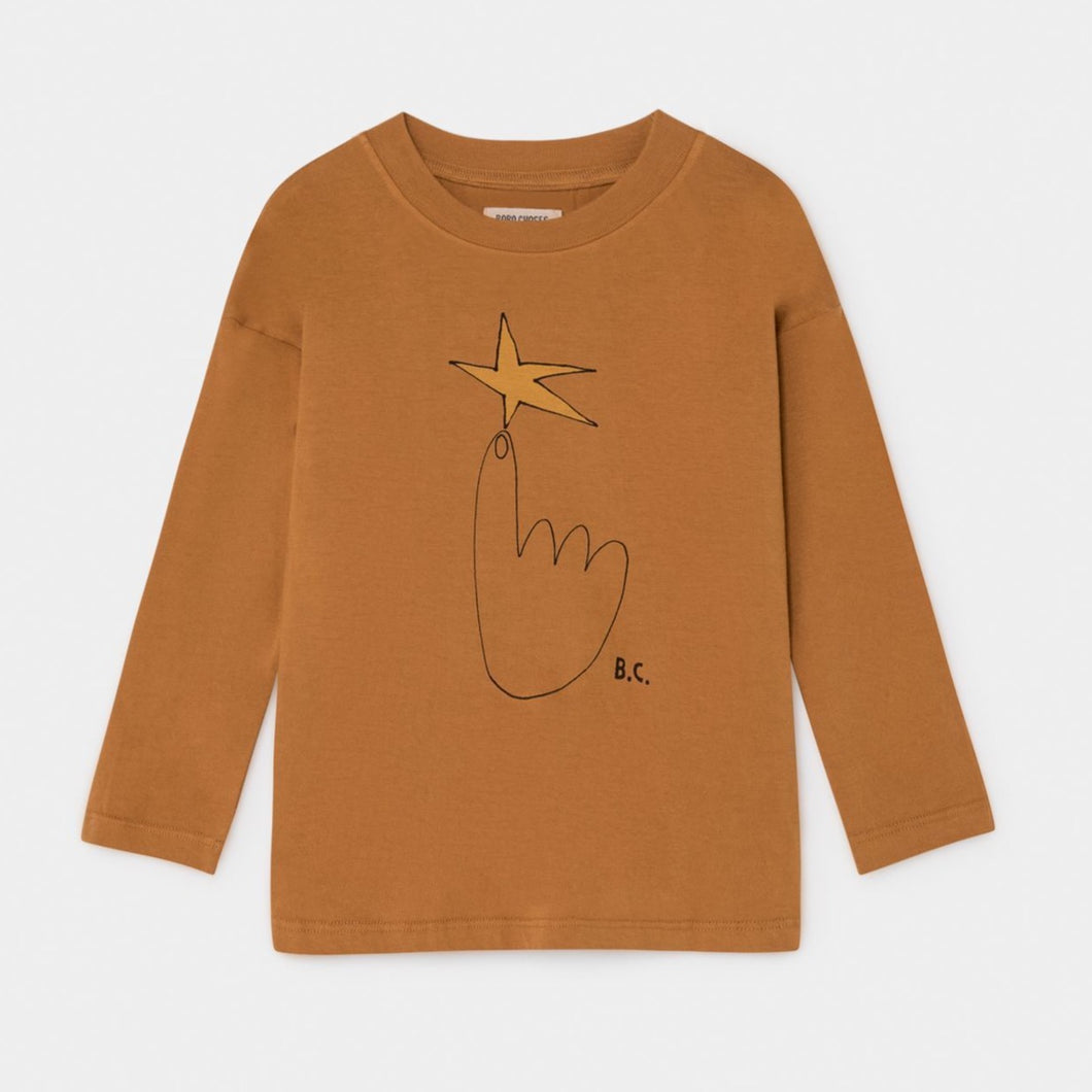 BOBO CHOSES The Northstar Long Sleeve T-shirt // Brown by BOBO CHOSES - Mini Pop Style