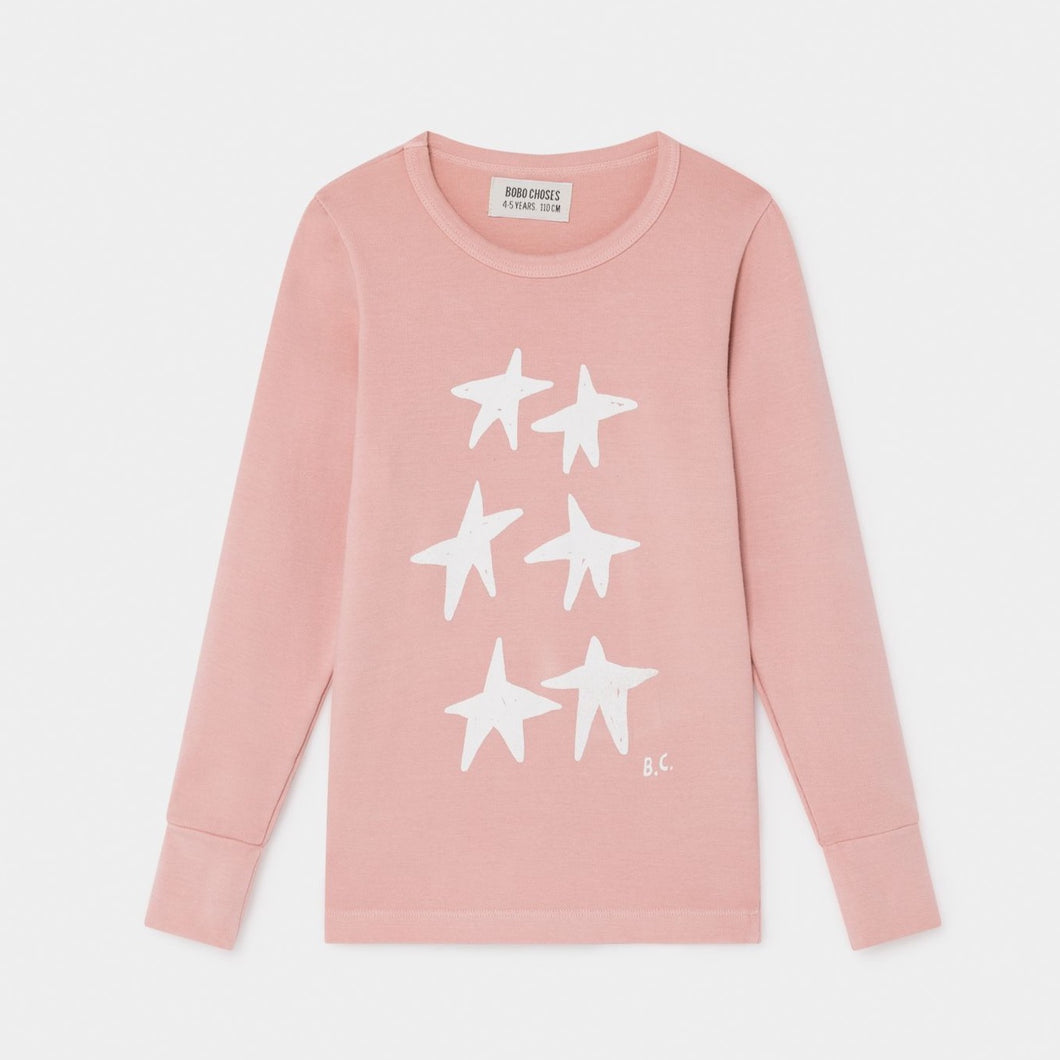 BOBO CHOSES Stars Long Sleeve T-Shirt by BOBO CHOSES - Mini Pop Style