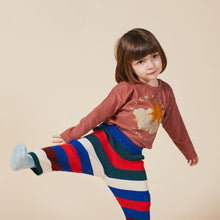 Load image into Gallery viewer, BOBO CHOSES Lucky Star Long Sleeve T-Shirt // Mahogany by BOBO CHOSES - Mini Pop Style